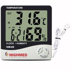 HM-02 – Termo-Higrômetro Digital de Parede e Mesa com Sensor Externo