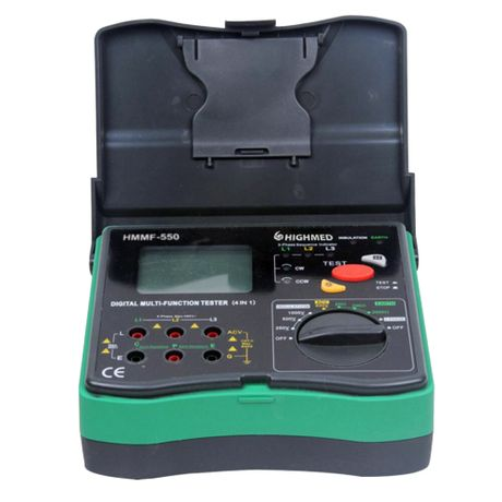 Terro-Mego-Volt-Fase-Digital-Portatil-Efetua-Funcao-Terrometro-Megohmetro-Voltimetro-Fasimetro-Modelo-Hmmf-550